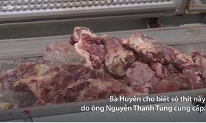 [Video] Phát hiện hơn một tấn thịt nhiễm tả heo châu Phi trong kho hàng ở Long An