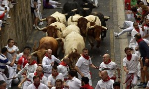 [Video] Cảnh bò tót rượt đuổi đoàn người trong Lễ hội San Fermin