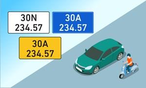 [Infographics] Những quy định mới về biển số xe