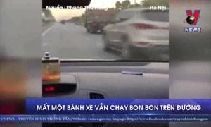 [Video] Mất một bánh xe ben vẫn bon bon chạy trên đường