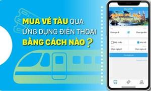 [Infographics] Mua vé tàu qua ứng dụng điện thoại bằng cách nào?