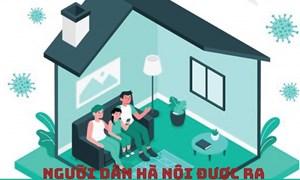 [Infographics] Người dân Hà Nội được ra đường khi nào?