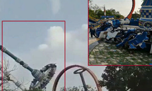 [Video] Đu quay khổng lồ ở công viên gặp nạn: Thêm cảnh báo cho người thích cảm giác mạnh