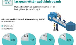 [Infographics] Quý III/2020: 80,6% doanh nghiệp chế biến, chế tạo lạc quan về sản xuất kinh doanh