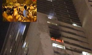 [Video] Cháy tầng 30 chung cư Hà Nội giữa đêm, hàng trăm người hoảng loạn
