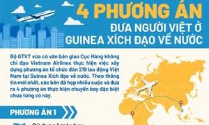 [Infographics] 4 phương án cho chuyến bay đặc biệt đưa người Việt từ Guinea Xích Đạo về nước