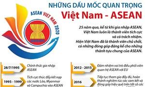 [Infographics] Những dấu mốc quan trọng Việt Nam - ASEAN