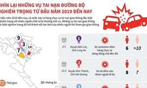 [Infographics] Những vụ tai nạn đường bộ nghiêm trọng từ đầu năm 2019