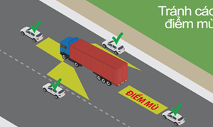 [Video] Lưu ý các điểm mù của xe tải