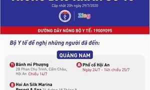 [Infographics] Các bệnh nhân Covid-19 ở Quảng Nam, Hà Nội, TP. Hồ Chí Minh đã đi đâu?