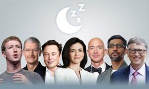 [Infographics] CEO công nghệ ngủ mấy tiếng mỗi ngày
