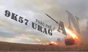 """[Video] Soi sức mạnh pháo phản lực bắn loạt """"Bão lửa"""" BM-27 Uragan"""