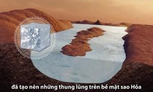 [Video] Sao Hỏa có thể chứa nhiều sông băng 3,8 tỷ năm trước