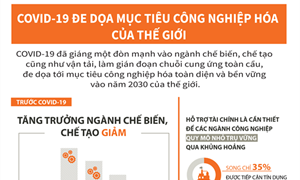[Infographics] Covid-19 đe dọa mục tiêu công nghiệp hóa của thế giới