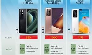 [Infographics] Ba smartphone đầu bảng đọ cấu hình