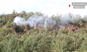 [Video] Nóng: Đốt vàng mã, gây cháy rừng