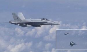 [Video] Chiến đấu cơ NATO áp sát máy bay chở Bộ trưởng Quốc phòng Nga