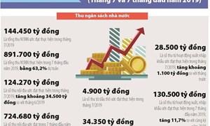 [Infographics] Số liệu tài chính - ngân sách nhà nước tháng 7 và 7 tháng đầu năm 2019