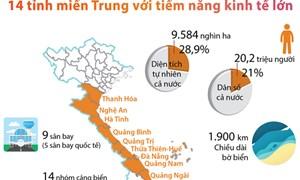 [Infographic] 14 tỉnh miền Trung với tiềm năng kinh tế lớn
