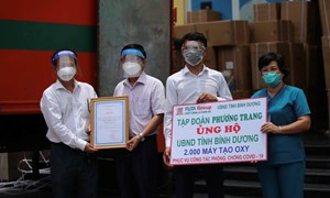 Tập đoàn Phương Trang tiếp tục trao tặng tỉnh Bình Dương 2.000 máy tạo oxy lưu lượng cao