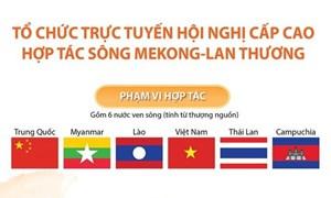 [Infographics] Tổ chức trực tuyến Hội nghị cấp cao Hợp tác sông Mekong-Lan Thương