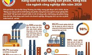 [Infographics] Những con số nổi bật về hiệu quả nâng cao năng suất và chất lượng sản phẩm, hàng hóa của ngành công nghiệp đến năm 2020