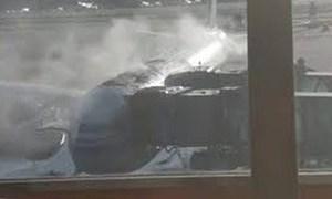 [Video] Máy bay Air China bốc cháy trước giờ cất cánh