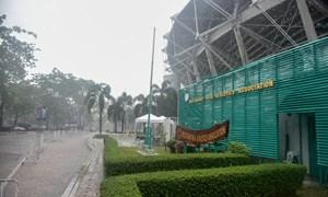 [Video] Mưa trút nước trước trận Việt Nam - Thái Lan