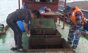[Video] Cảnh sát biển bắt tàu chở 35.000 lít dầu DO