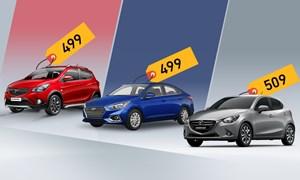 [Infographics] 500 triệu mua Fadil, Accent hay Mazda2?