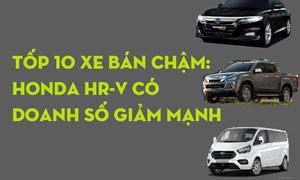 [Infographics] Tốp 10 xe bán chậm: Honda HR-V có doanh số giảm mạnh