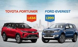 [Infographics] Fortuner và Everest - cuộc đua công nghệ SUV 7 chỗ