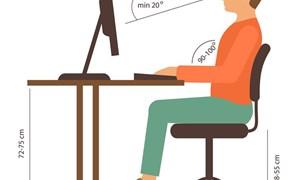 [Infographics] Ngồi máy tính như thế nào cho đúng tư thế?