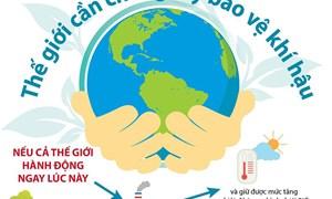 [Infographics] Quốc tế cam kết những nỗ lực lớn hơn về bảo vệ khí hậu