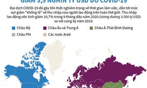 [Infographics] Thu nhập của người lao động toàn cầu giảm 3.500 tỷ USD do Covid-19