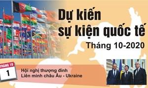 [Infographics] Dự kiến sự kiện quốc tế tháng 10
