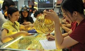 Vàng trong nước tăng giá phiên sáng đầu tuần