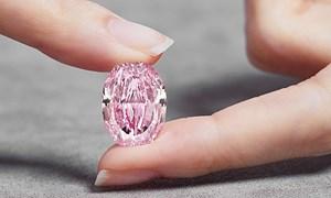 [Video] Đấu giá viên kim cương hồng tím siêu quý hiếm