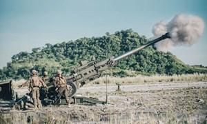 [Ảnh] Lựu pháo mạnh nhất thế giới của Mỹ khai hỏa dữ dội trên đất Philippines
