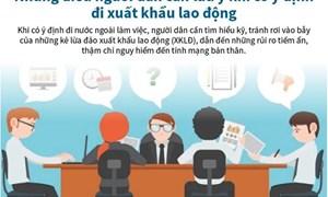 [Infographics] Những điều cần lưu ý khi định đi xuất khẩu lao động