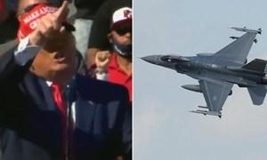 [Video] Tiêm kích F-16 bắn pháo sáng gần nơi ông Trump vận động tranh cử