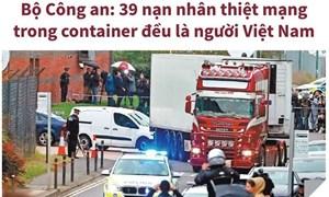 [Infographics] 39 nạn nhân chết trong container đều là người Việt