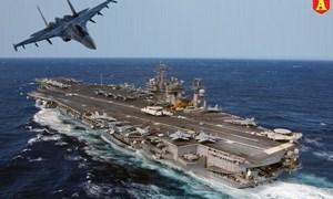 [Infographics] Sức mạnh tàu sân bay Mỹ từng bị tiêm kích Su-27 Nga vờn tới 40 phút