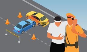 [Infographics] 6 bước xử lý vụ tai nạn của cảnh sát giao thông