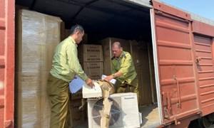 [Video] Hà Nội: Phát hiện số lượng lớn điều hòa, tủ lạnh có dấu hiệu nhập lậu