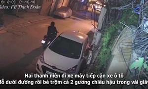 [Video] Gần tết: Trộm vặt nguyên đôi gương