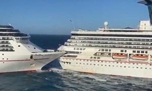 [Video] Khoảnh khắc hai du thuyền khổng lồ đâm nhau trên biển Caribê