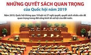 [Infographics]  Những quyết sách quan trọng của Quốc hội năm 2019