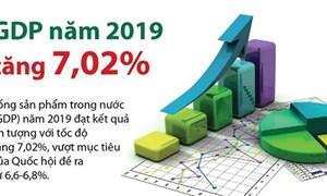 [Infographics] GDP năm 2019 tăng 7,02%, vượt mục tiêu đề ra