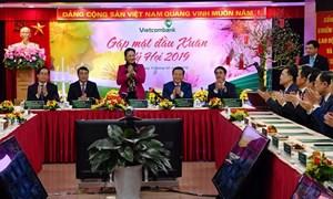 Chủ tịch Quốc hội Nguyễn Thị Kim Ngân chúc tết tại Vietcombank nhân dịp đầu Xuân